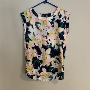 J.crew floral silk top